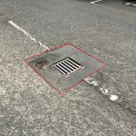 Identifying pothole area to be repaired